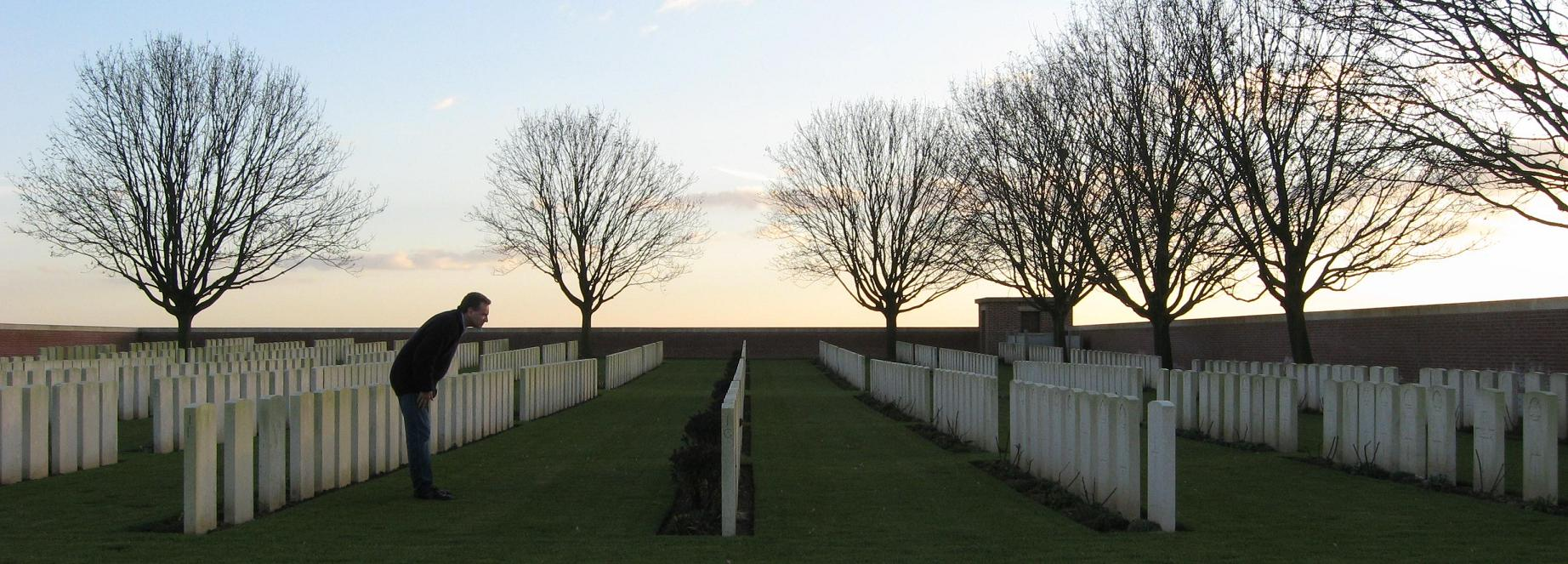 Australian War Graves at British War Cemetery, Morlancourt, France